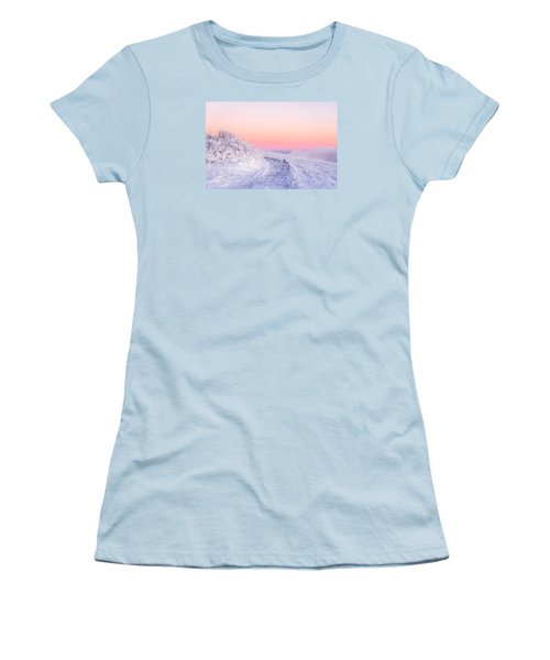 Winter Glow On Roan Mountain Women's T-Shirt (Athletic Fit)