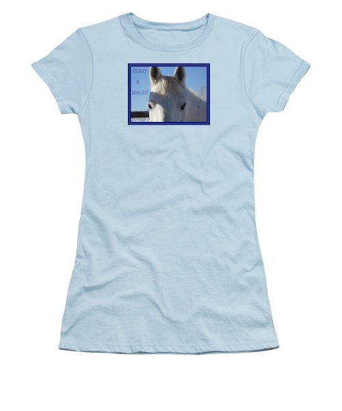 Winter Horse Christmas Women's T-Shirt (Athletic Fit)