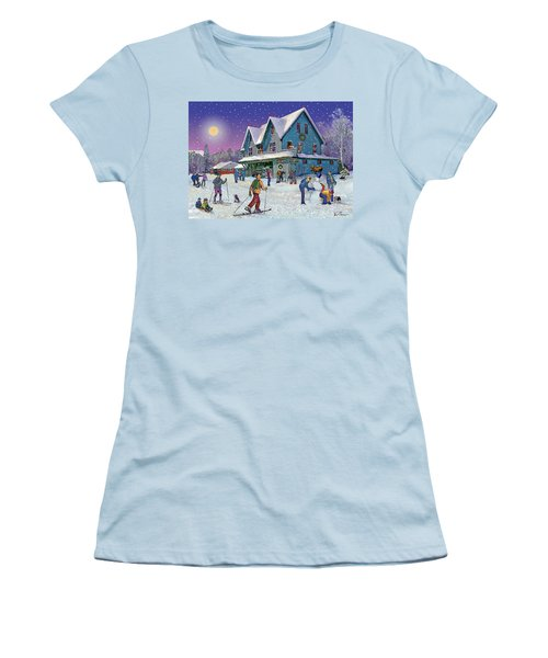 Winter In Campton Village Women's T-Shirt (Athletic Fit)