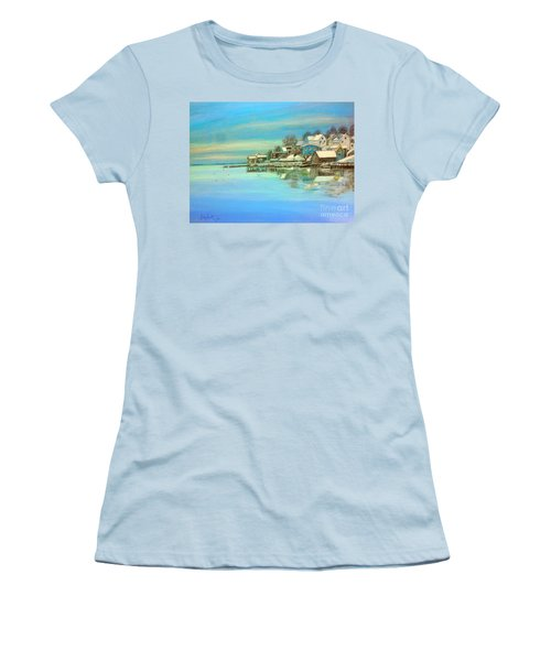 winter in Chester ,Nova Scotia  Women's T-Shirt (Junior Cut) by Rae  Smith PAC