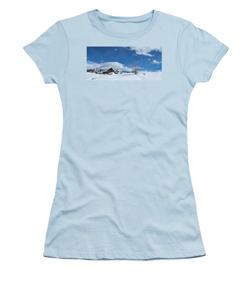 Winter In The Rockies Women's T-Shirt (Junior Cut) by Sean Allen