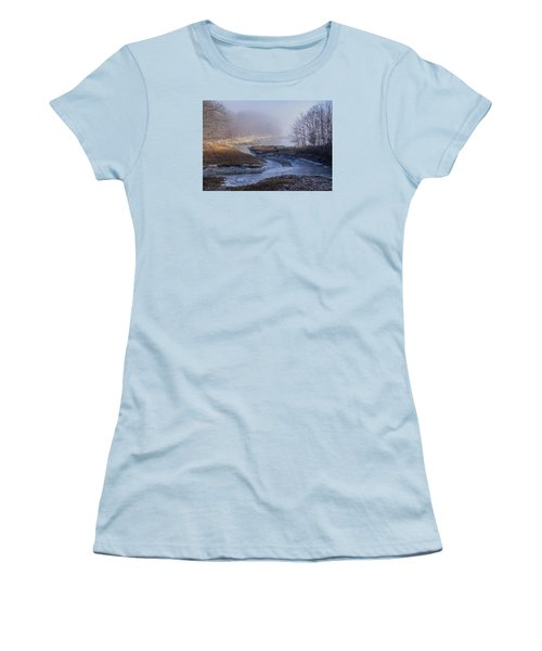 Winter Inlet Women's T-Shirt (Junior Cut) by Tom Singleton