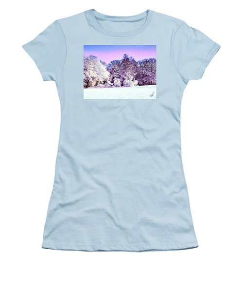 Women's T-Shirt (Junior Cut) featuring the digital art Winter by Zedi
