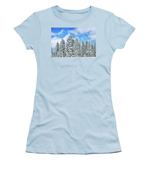 Winterscape Women's T-Shirt (Junior Cut) by Jeff Kolker