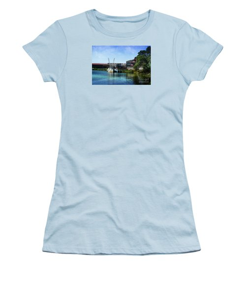 Winyah Bay Georgetown Sc Women's T-Shirt (Junior Cut) by Kathy Baccari