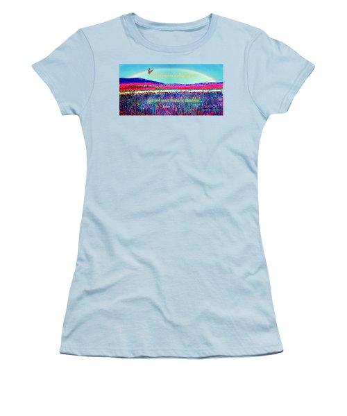 Wishing You The Sunshine Of Tomorrow Bereavement Card Women's T-Shirt (Junior Cut) by Kimberlee Baxter