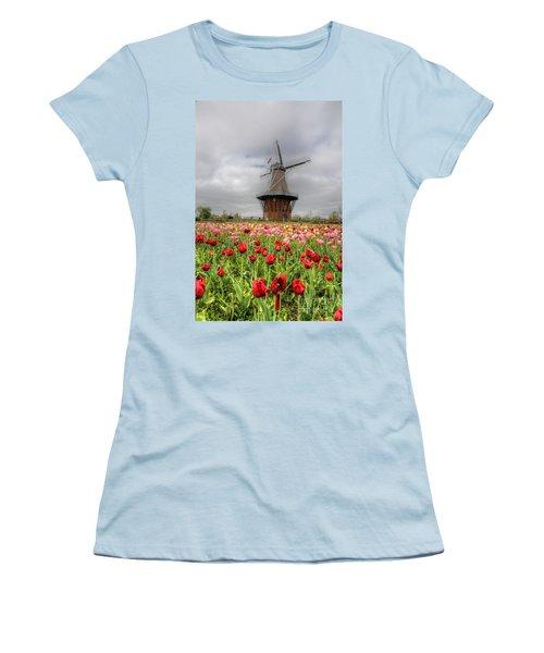 Women's T-Shirt (Junior Cut) featuring the photograph Wjndmill Island 2 by Robert Pearson