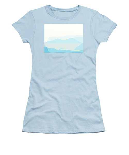 Woman In Blue Women's T-Shirt (Junior Cut)