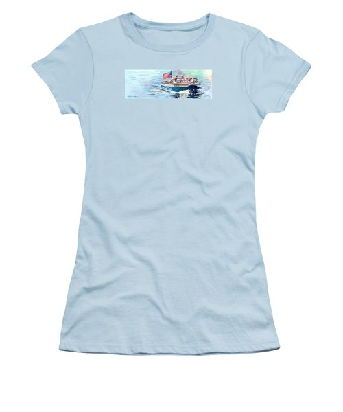 Wooden Boat Blues Women's T-Shirt (Junior Cut) by LeAnne Sowa