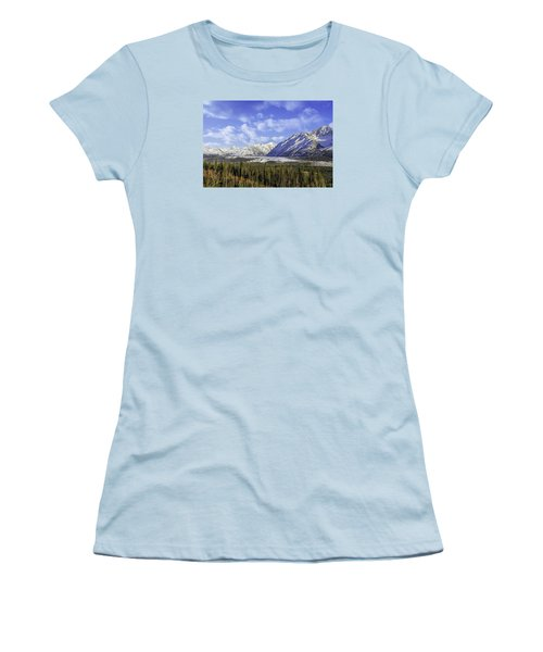 Wrangell Mountains Glacier Alaska Women's T-Shirt (Athletic Fit)