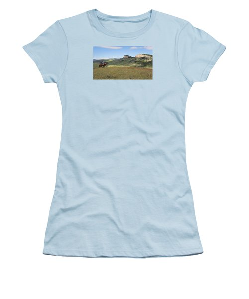 Wyoming Bluffs Women's T-Shirt (Junior Cut) by Diane Bohna
