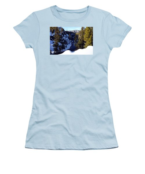 Yellowstone In Winter Women's T-Shirt (Athletic Fit)