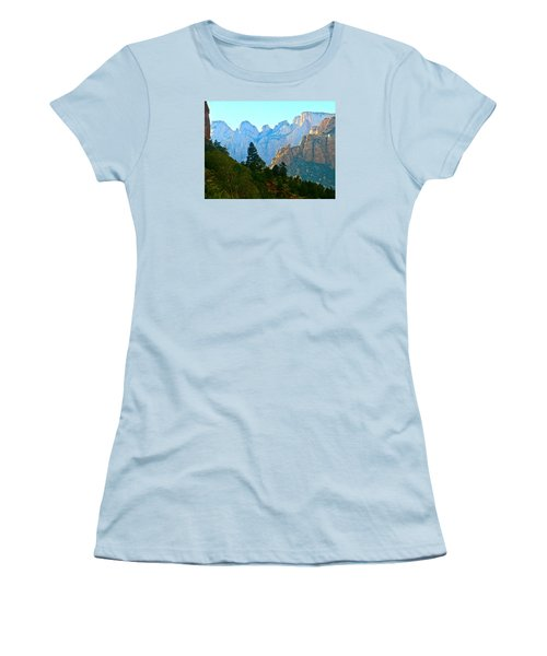 Zion's Hint Of Blue Women's T-Shirt (Athletic Fit)