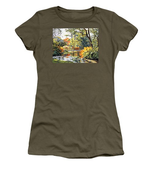 Autumn Water Bridge Women's T-Shirt