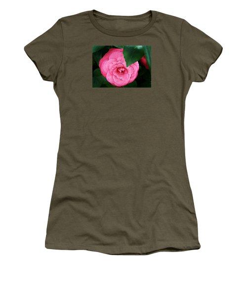 Camellia Japonica ' Elizabeth Weaver ' Women's T-Shirt (Junior Cut) by William Tanneberger