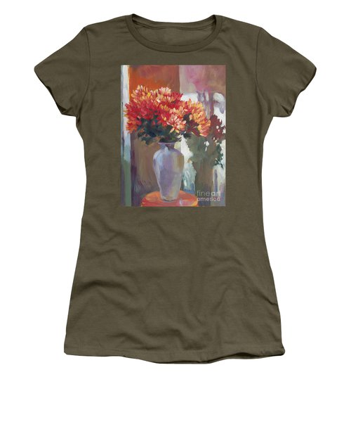 Chrysanthemums In Vase Women's T-Shirt