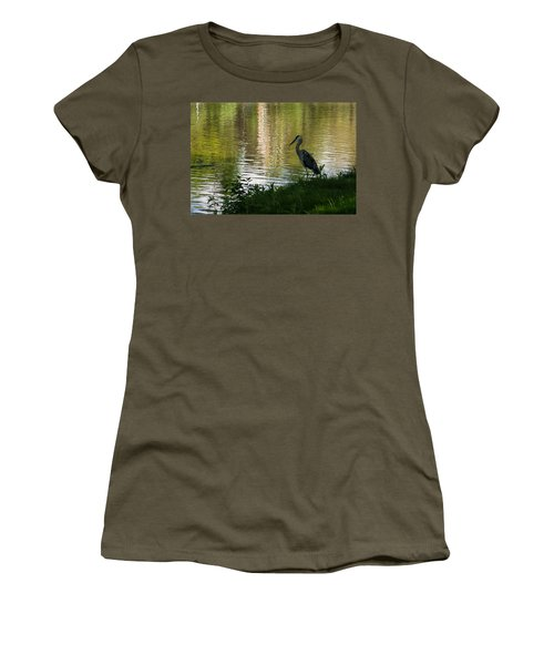 Women's T-Shirt (Junior Cut) featuring the photograph Contemplating Impressionist Paintings by Georgia Mizuleva