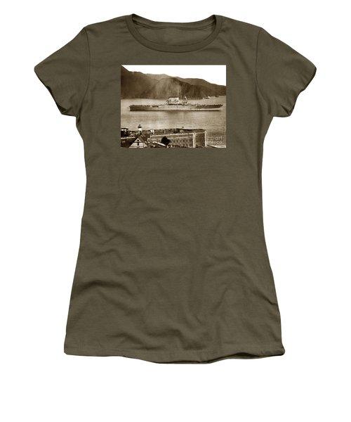 U. S. S. Lexington Cv-2 Fort Point Golden Gate San Francisco Bay California 1928 Women's T-Shirt (Athletic Fit)