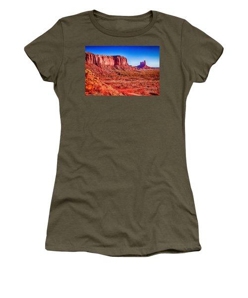 Golden Hour Sunrise In Monument Valley Women's T-Shirt