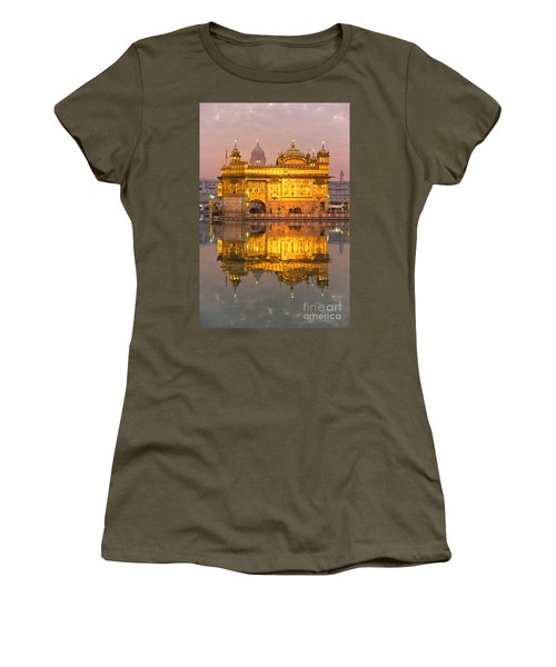 Golden Temple In Amritsar - Punjab - India Women's T-Shirt (Junior Cut) by Luciano Mortula
