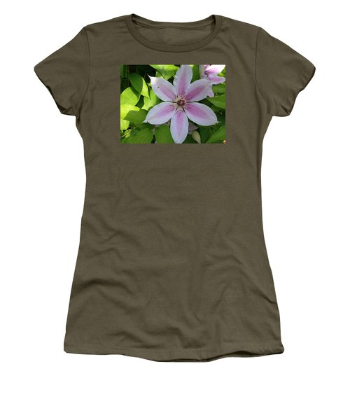 Pink Clematis  Women's T-Shirt (Athletic Fit)