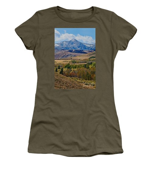 Women's T-Shirt featuring the photograph  Sierras Mountains by Mae Wertz