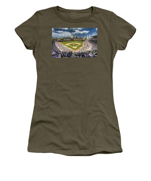 0443 Wrigley Field Chicago  Women's T-Shirt