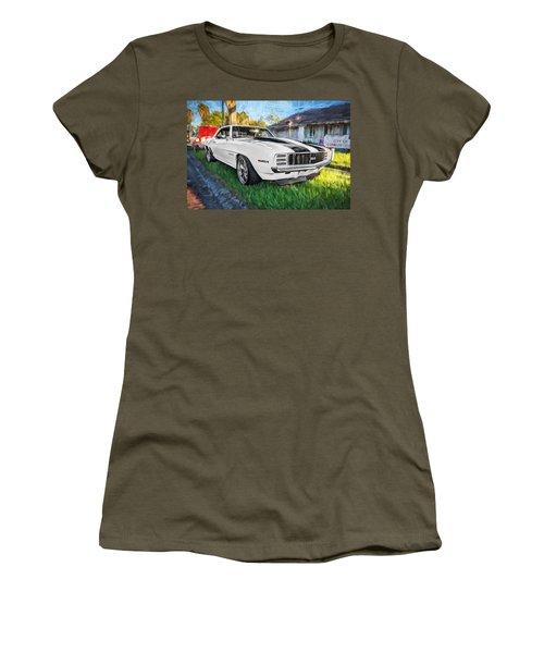 1969 Chevy Camaro Rs Painted  Women's T-Shirt