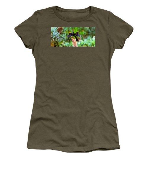 Anhinga Anhinga Anhinga On A Tree Women's T-Shirt (Junior Cut) by Panoramic Images