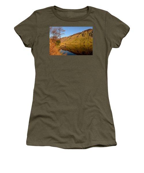 Annascaul Lake Women's T-Shirt (Junior Cut) by Barbara Walsh