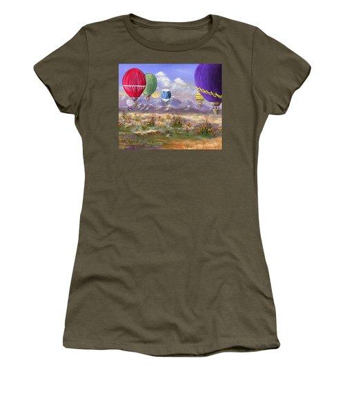 Balloons Women's T-Shirt (Junior Cut) by Jamie Frier