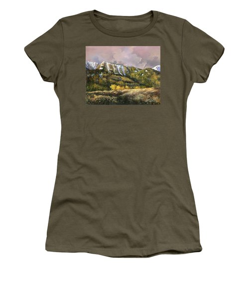 Women's T-Shirt (Junior Cut) featuring the painting Bear Claw by Lynne Wright