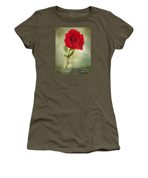 Beautiful Rose Women's T-Shirt (Junior Cut) by Lena Auxier
