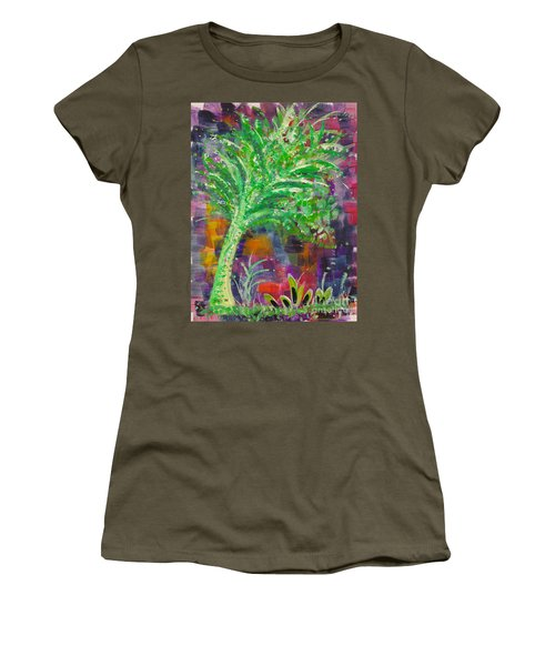 Women's T-Shirt (Junior Cut) featuring the painting Celery Tree by Holly Carmichael