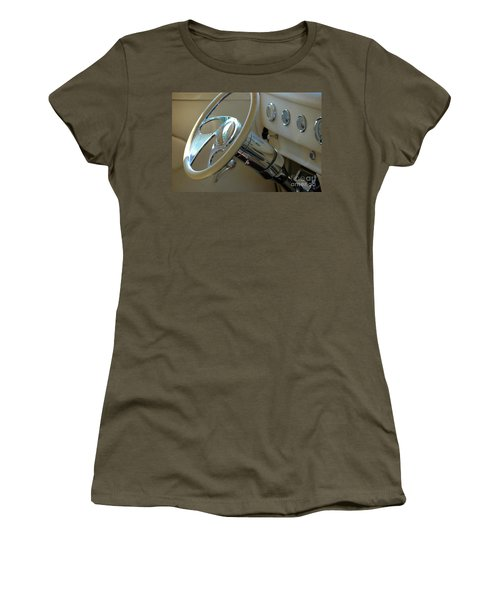Women's T-Shirt (Athletic Fit) featuring the photograph Dashboard Glam by Christiane Hellner-OBrien