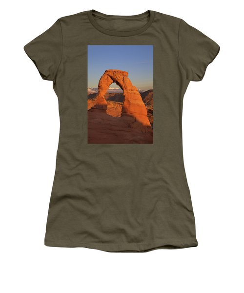 Delicate Arch At Sunset Women's T-Shirt (Athletic Fit)
