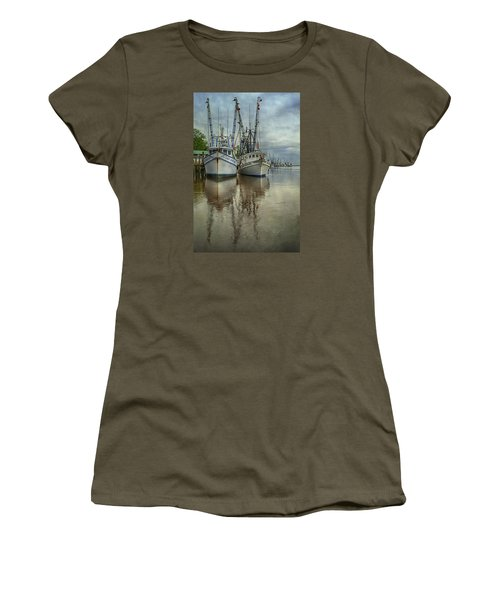 Women's T-Shirt (Junior Cut) featuring the photograph Docked by Priscilla Burgers