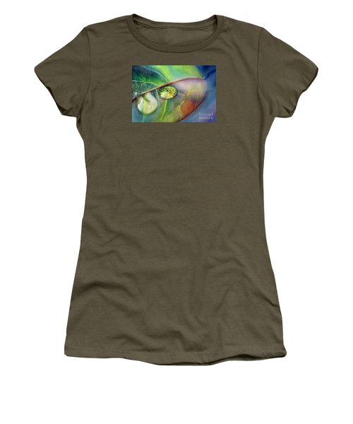 Women's T-Shirt (Junior Cut) featuring the painting Drops by Allison Ashton