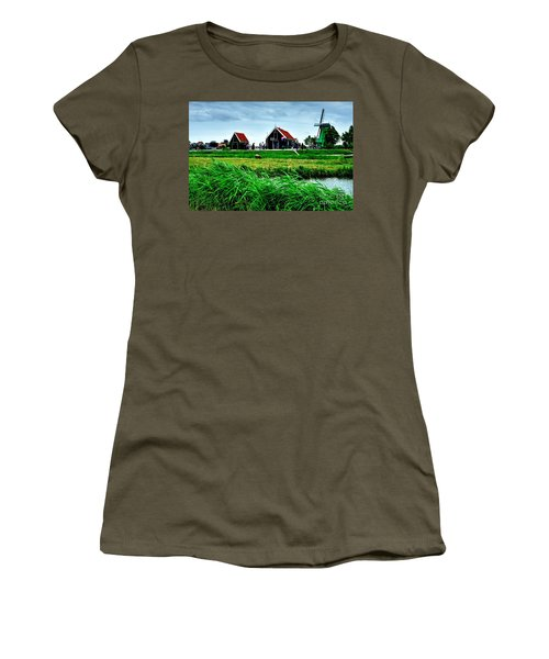 Women's T-Shirt (Junior Cut) featuring the photograph Dutch Village by Joe  Ng