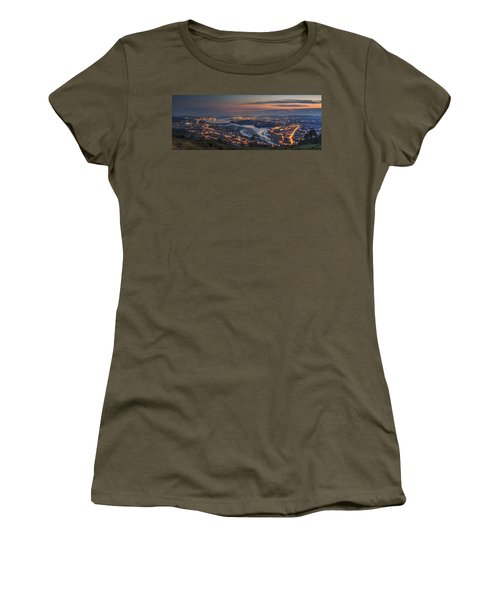 Ferrol's Ria Panorama From Mount Ancos Galicia Spain Women's T-Shirt