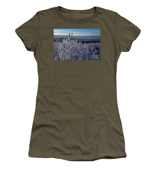 Frost On Branches Women's T-Shirt