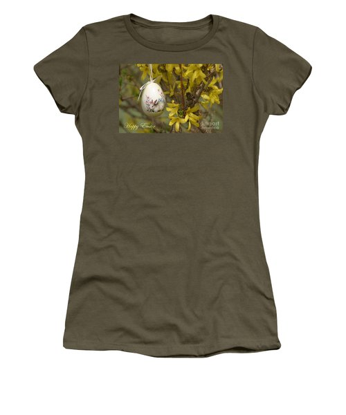 Happy Easter Women's T-Shirt (Junior Cut) by Living Color Photography Lorraine Lynch