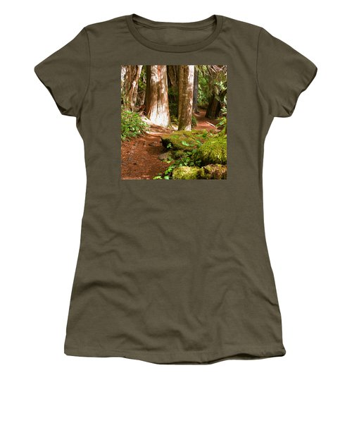 Hiking Trail Women's T-Shirt (Athletic Fit)