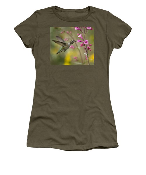 Hummingbird Heaven  Women's T-Shirt (Athletic Fit)