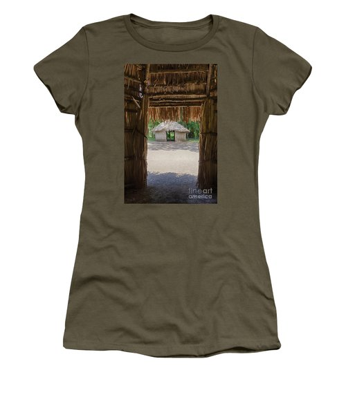 Women's T-Shirt featuring the photograph Indigenous Tribe Huts In Puer by Bryan Mullennix