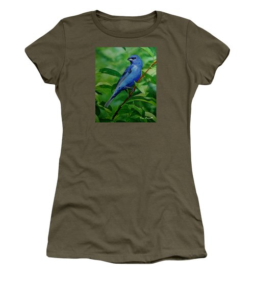 Indigo Bunting Women's T-Shirt (Athletic Fit)