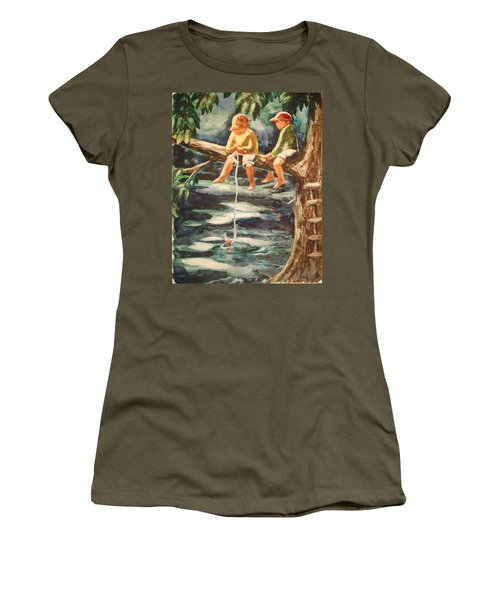 Jes Fishin Women's T-Shirt (Athletic Fit)