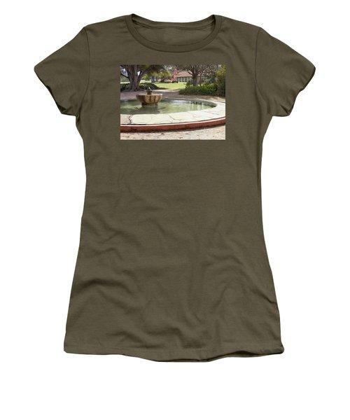 La Purisima Fountain Women's T-Shirt (Athletic Fit)