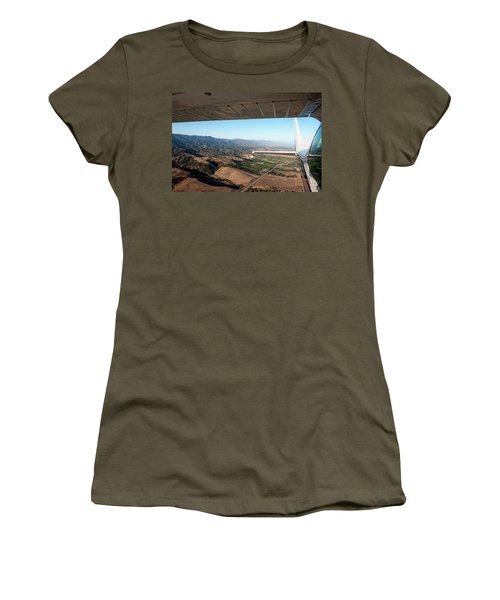 Looking Back Under The Wing Of A Small Women's T-Shirt