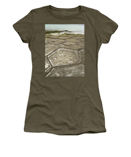 Natural Forming Pentagon Rock Formations Of Kumejima Okinawa Japan Women's T-Shirt (Athletic Fit)